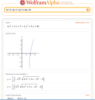 Wolfram Alpha Screenshot