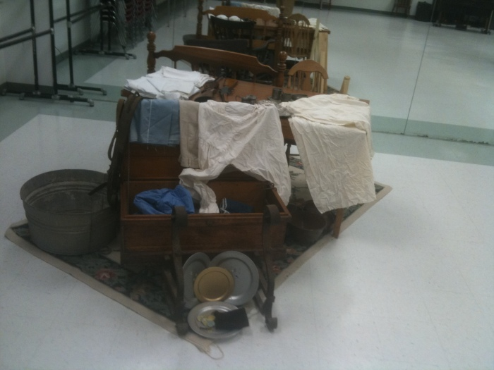 A miniature exhibit of the things John Alden owned at his death