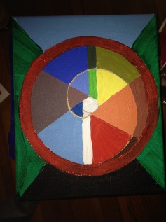 painting of an Archimedean spiral.