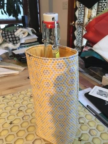 bottle inside a bag designed to hold one bottle.