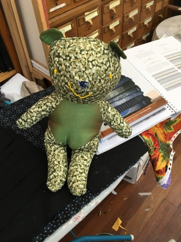 """stuffed toy bear about 14"""" high"""