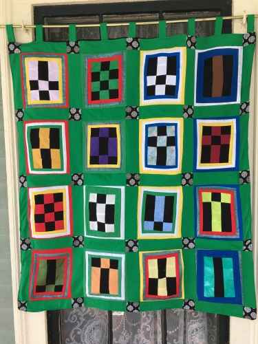 The quilt close up