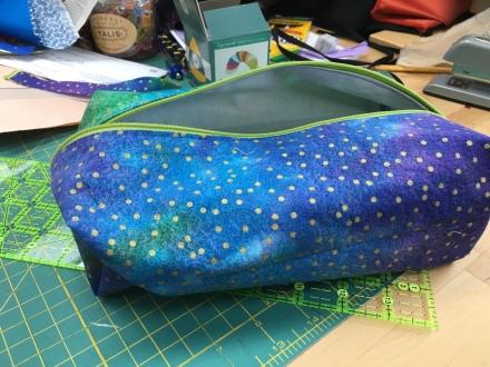 Blue-green toiletry bag