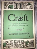 Book cover of Craeft by Alexander Langlands