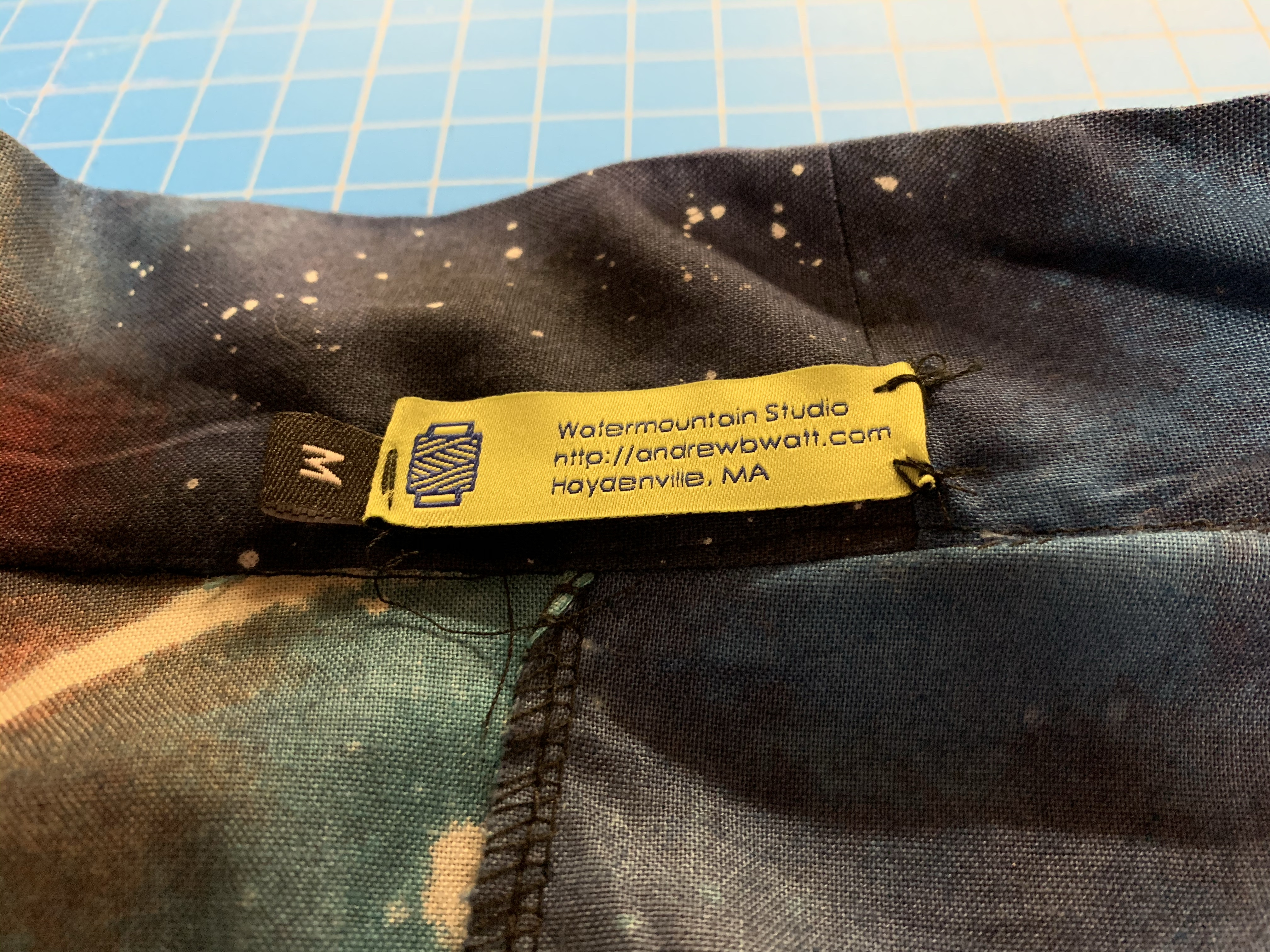 Proud enough of this garment to include my label.